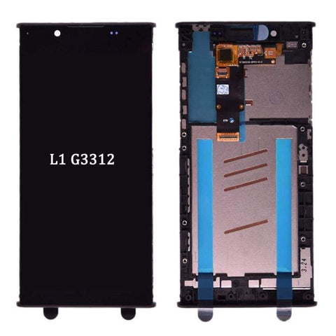 Image of LCD Touch Screen Digitizer Display for Sony Xperia L1 G3311 G3312 G3313 - Black with frame - LCDs & Digitizers