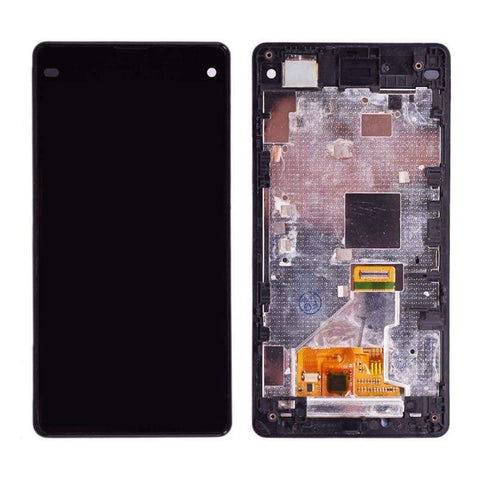 Image of LCD Touch Screen Digitizer Display for Sony Xperia Z1 Compact Mini M51W D5503 - Black with frame - LCDs & Digitizers