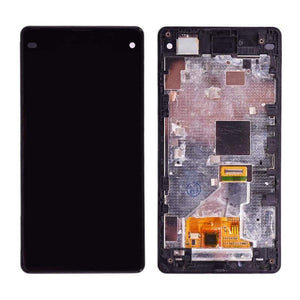 LCD Touch Screen Digitizer Display for Sony Xperia Z1 Compact Mini M51W D5503 - Black with frame - LCDs & Digitizers