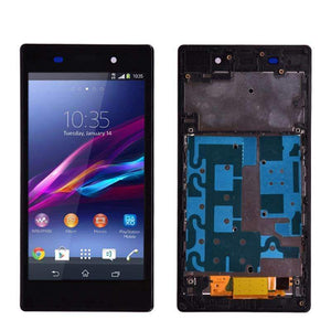LCD Touch Screen Digitizer Display for Sony Xperia Z1 L39H C6902 C6903 - lcd with frame White - LCDs & Digitizers
