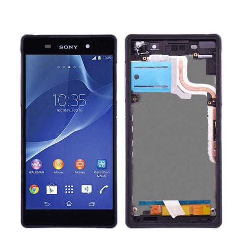 Image of LCD Touch Screen Digitizer Display + Frame for Sony Xperia Z2 L50W D6502 D6503 - Black With Frame - LCDs & Digitizers