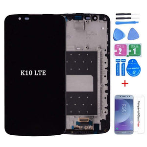 LCD Touch Screen Digitizer for LG K10 K420N K430 K420 K430DS K10TV K420TV K430TV - K10 with frame Black - LCDs & Digitizers