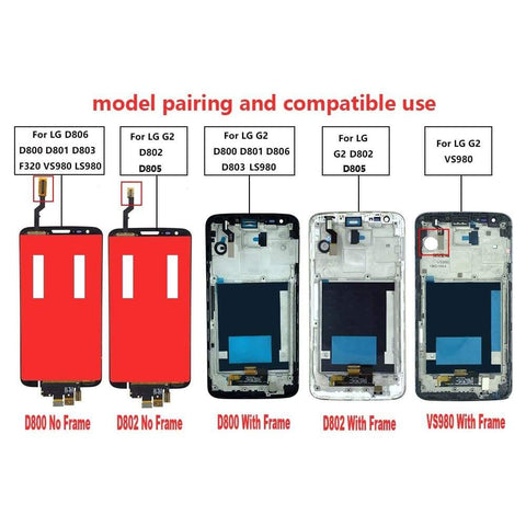 Image of LCD Touch Screen Digitizer for LG Optimus G2 D800 D801 D802 D803 D805 D806 LS980 - LCDs & Digitizers