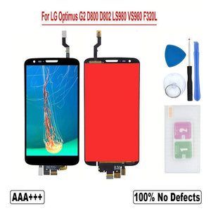 LCD Touch Screen Digitizer for LG Optimus G2 D800 D801 D802 D803 D805 D806 LS980 - F320 Black No frame - LCDs & Digitizers