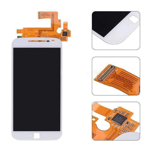 Image of LCD Touch Screen Digitizer for Motorola Moto G4 Plus XT1644 XT1640 XT1641 - White LCD | Without Frame - LCDs & Digitizers