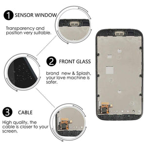 LCD Touch Screen Digitizer + Frame for Motorola Moto E XT1021 XT1022 XT1025 - Black | With Frame - LCD's & Digitizers