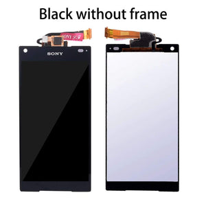 LCD Touch Screen Digitizer + Frame for Sony Xperia Z5 Compact E5803 E5823 - Black No Frame - LCDs & Digitizers