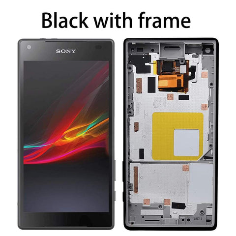 Image of LCD Touch Screen Digitizer + Frame for Sony Xperia Z5 Compact E5803 E5823 - Black With Frame - LCDs & Digitizers