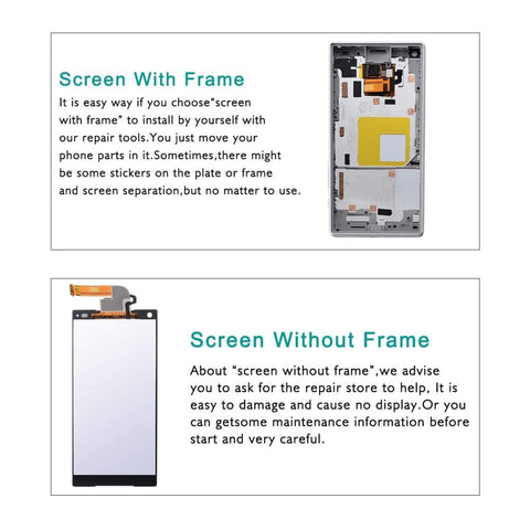 Image of LCD Touch Screen Digitizer + Frame for Sony Xperia Z5 Compact E5803 E5823 - LCDs & Digitizers