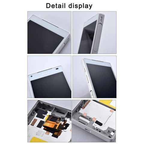 LCD Touch Screen Digitizer + Frame for Sony Xperia Z5 Compact E5803 E5823 - LCDs & Digitizers