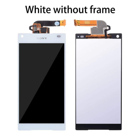 Image of LCD Touch Screen Digitizer + Frame for Sony Xperia Z5 Compact E5803 E5823 - White No Frame - LCDs & Digitizers