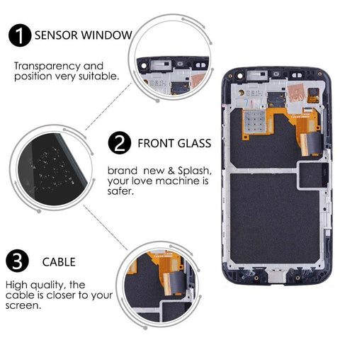 Image of LCD Touch Screen Digitizer Motorola Moto X XT1052 XT1053 XT1056 XT1058 XT1060 - LCD's & Digitizers