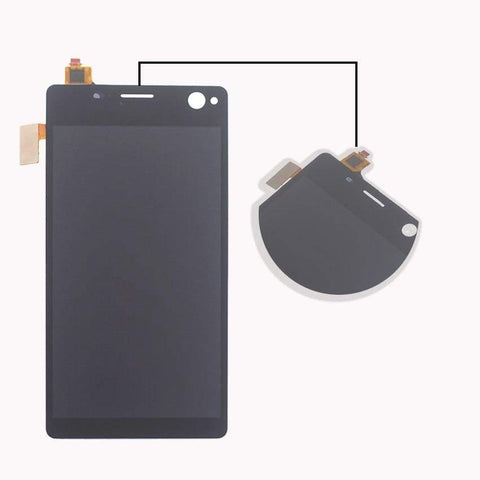 LCD Touch Screen Digitizer Sony Xperia C4 E5303 E5306 E5333 E5343 E5353 E5363 - Black l With Frame - LCDs & Digitizers