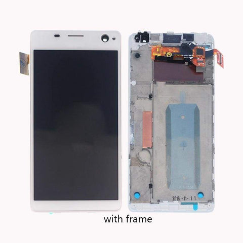 Image of LCD Touch Screen Digitizer Sony Xperia C4 E5303 E5306 E5333 E5343 E5353 E5363 - White l With Frame - LCDs & Digitizers