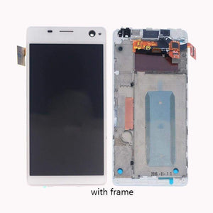 LCD Touch Screen Digitizer Sony Xperia C4 E5303 E5306 E5333 E5343 E5353 E5363 - White l With Frame - LCDs & Digitizers