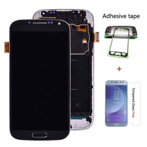 LCD Touch Screen Digitizer with Frame for Samsung Galaxy S4 I9500 i337 M919V - White - LCDs & Digitizers