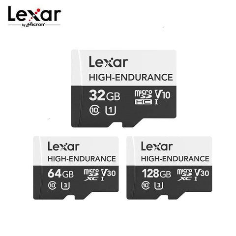 Image of Lexar High Endurance Micro SD Card 32GB 64GB 128GB Waterproof For 4K Video - Micro SD Cards