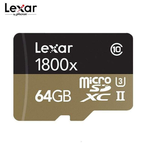 Image of Lexar Professional 1800x Micro SD Card UHS II 32GB 64GB U3 Class 3 (U3) UHS-II - 64GB / 1 - Micro SD Cards