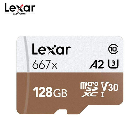 Lexar Professional Micro SD Card 667x SDXC V30 C10 128GB 256GB For 4K Video - Micro SD Cards