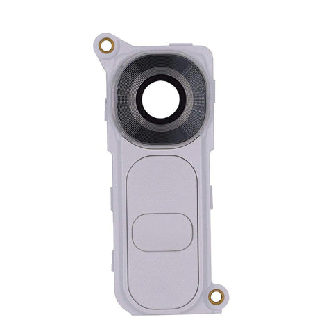 Image of LG G4 Rear Camera Lens Glass Cover and Frame Holder - White - Camera Lens Cover
