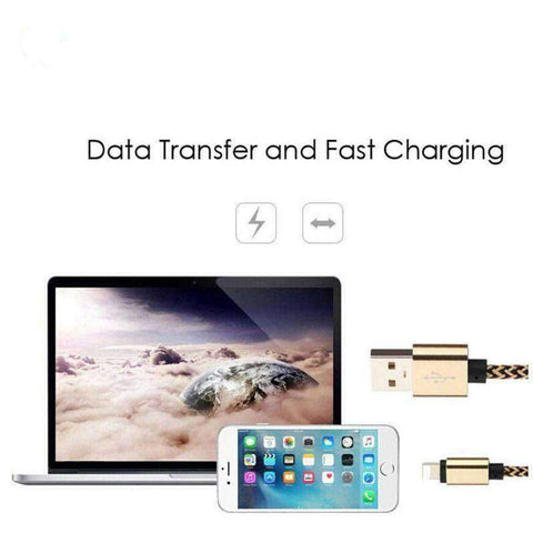 Image of Lightning USB Cable Data Charging 1M 2M Apple iPhone X 8 7 Plus 6 iPad Braided - Accessories