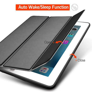 Magnet Smart Sleep Awake Foldable Leather Cover for Apple iPad mini 1 2 3 Case Soft Silicone Back - Accessories