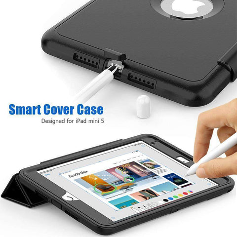 Magnetic Smart Sleep Awake Trifold Case Cover for iPad Mini 4 Mini 5 A1538 A2133 - Accessories