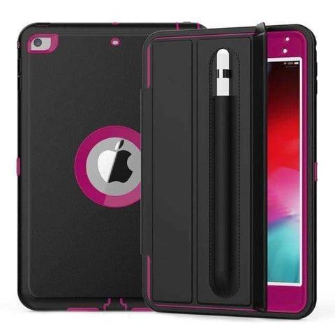 Magnetic Smart Sleep Awake Trifold Case Cover for iPad Mini 4 Mini 5 A1538 A2133 - Hot Pink - Accessories