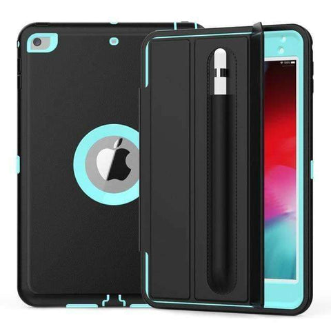 Magnetic Smart Sleep Awake Trifold Case Cover for iPad Mini 4 Mini 5 A1538 A2133 - Sky Blue - Accessories