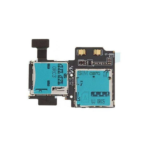 Image of Micro SD Sim Card Reader Flex Cable for Samsung Galaxy S4 - Micro SD & Sim Card Reader