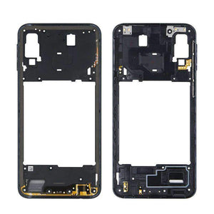 Middle Frame Bezel Housing Replacement For Samsung Galaxy A20 A30 A40/A210 A50 - Black For A40 A210 - Parts