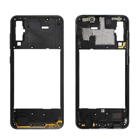 Image of Middle Frame Bezel Housing Replacement For Samsung Galaxy A20 A30 A40/A210 A50 - Black For A50 - Parts