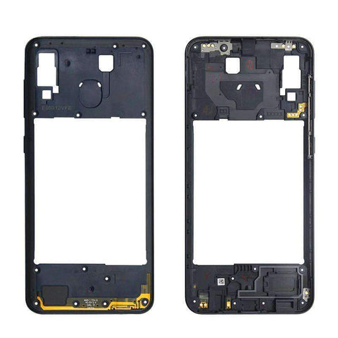 Image of Middle Frame Bezel Housing Replacement For Samsung Galaxy A20 A30 A40/A210 A50 - Black For A20 - Parts