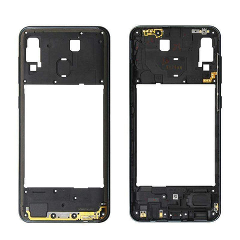 Image of Middle Frame Bezel Housing Replacement For Samsung Galaxy A20 A30 A40/A210 A50 - Black For A30 - Parts