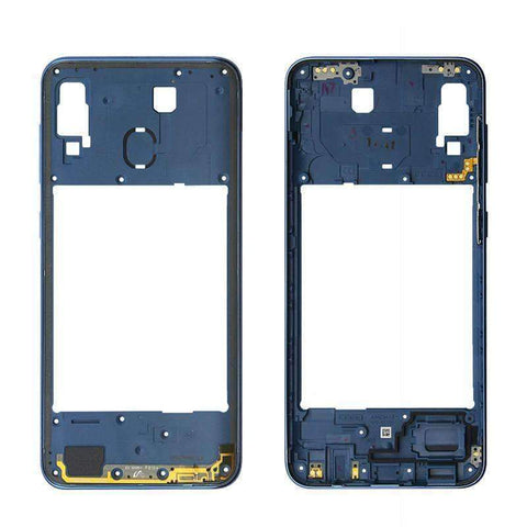 Image of Middle Frame Bezel Housing Replacement For Samsung Galaxy A20 A30 A40/A210 A50 - Blue For A30 - Parts