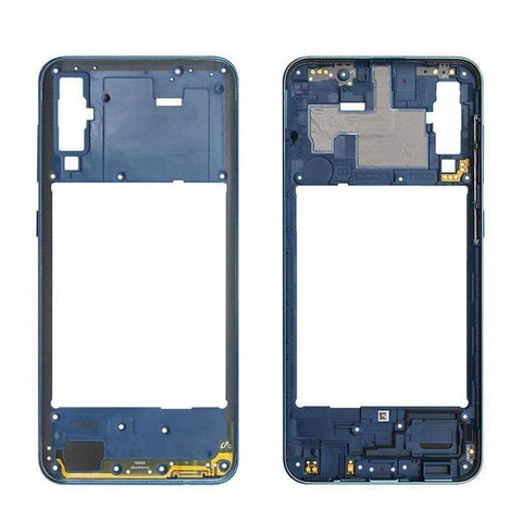 Image of Middle Frame Bezel Housing Replacement For Samsung Galaxy A20 A30 A40/A210 A50 - Blue For A50 - Parts