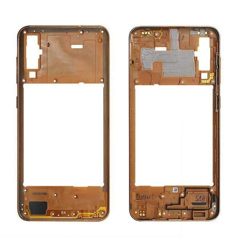 Image of Middle Frame Bezel Housing Replacement For Samsung Galaxy A20 A30 A40/A210 A50 - Orange For A50 - Parts