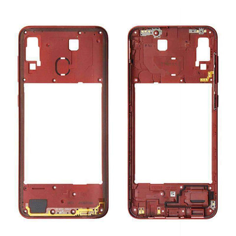 Image of Middle Frame Bezel Housing Replacement For Samsung Galaxy A20 A30 A40/A210 A50 - Red For A30 - Parts