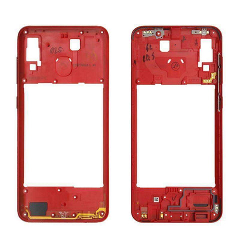 Image of Middle Frame Bezel Housing Replacement For Samsung Galaxy A20 A30 A40/A210 A50 - Red For A20 - Parts