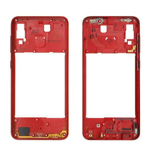 Middle Frame Bezel Housing Replacement For Samsung Galaxy A20 A30 A40/A210 A50 - Red For A20 - Parts