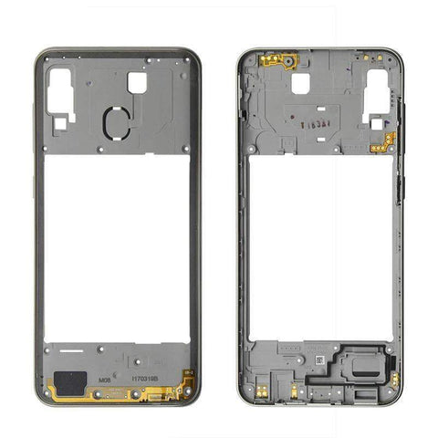 Image of Middle Frame Bezel Housing Replacement For Samsung Galaxy A20 A30 A40/A210 A50 - Silver For A30 - Parts