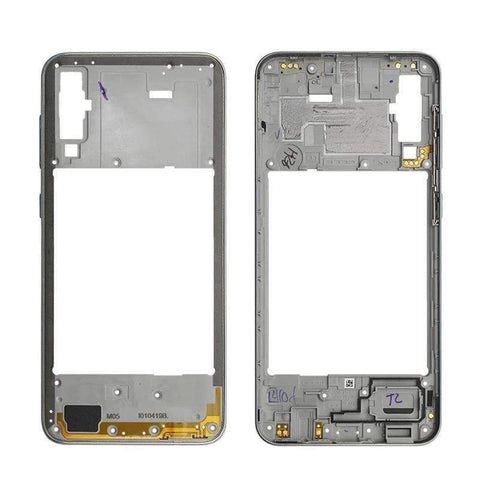 Image of Middle Frame Bezel Housing Replacement For Samsung Galaxy A20 A30 A40/A210 A50 - White For A50 - Parts