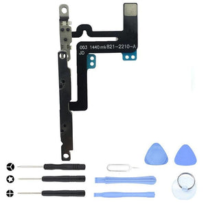 Mute Volume Control Button Switch Flex Cable for iPhone 6 Plus A1522 A1524 A1593 - With Tool Kit - Volume and Mute Button