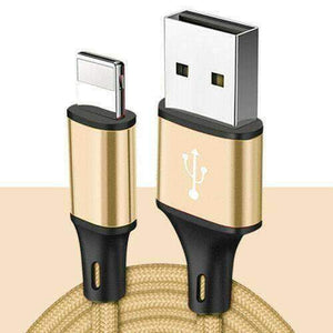 New 8pin Lightning USB Cable 3/6/10 Ft Charging Apple iPhone XS XR 8 7 Plus 6 S - 1 meter 3.3 ft / Gold - Accessories