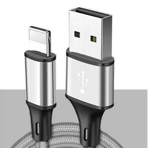 Image of New 8pin Lightning USB Cable 3/6/10 Ft Charging Apple iPhone XS XR 8 7 Plus 6 S - 1 meter 3.3 ft / Silver - Accessories