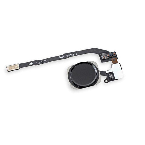 New Black Home Button flex cable with Touch ID Sensor Assembly for iPhone 5S/SE - Home Button