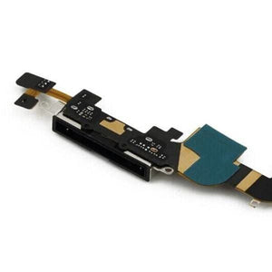 New Black iPhone 4S 4GS Charging Port Dock Connecter + Microphone Flex Cable - Charge Ports