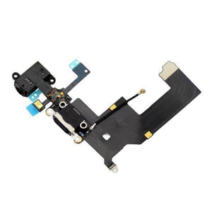 New Black iPhone 5 5G Charging Port + Microphone + Audio Jack Flex Cable - Charge Ports