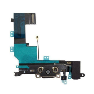 New Black iPhone 5C Charging Port + Microphone + Headphone Audio Jack Flex Cable - Charge Ports