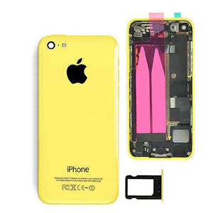 New iPhone 5C Back Housing Mid Frame Assembly with Cables Parts tools - Yellow - Housing Assembly